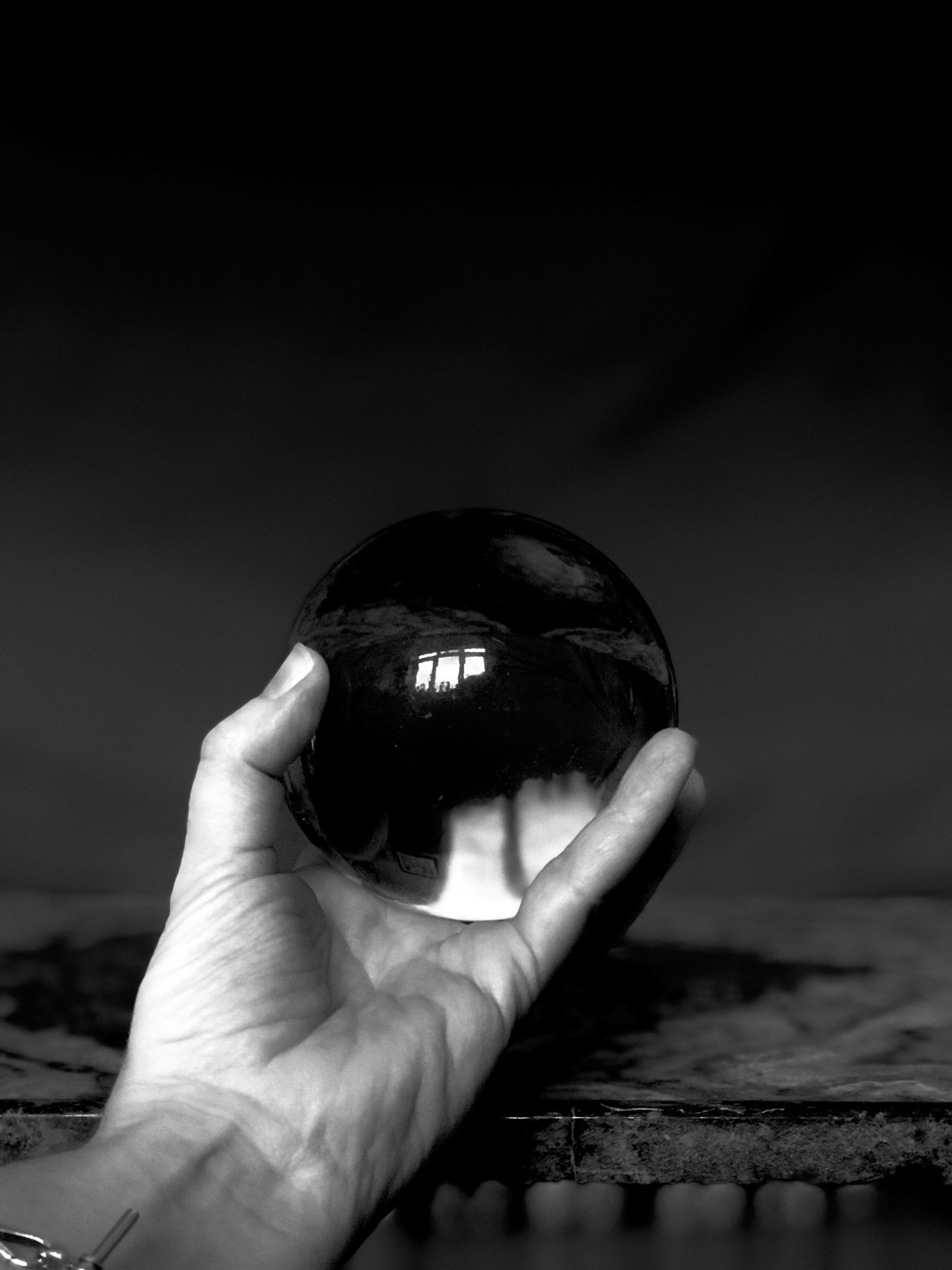 Holding the crystal ball