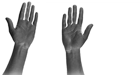Argosy: a hand signs the letter A against a white background