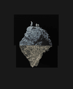 Head over hills: making an asteroid in space with people walking around its edge